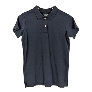 Lands' End Navy Blue Collared Short Sleeve Shirt